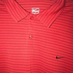 Nike Performance Red Golf Shirt